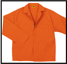 Orange work clothing