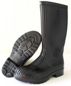 Bata Workmaster Black Gumboots with Steel Toe Cap