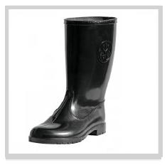 Black PVC Gumboots