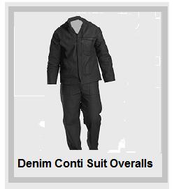 Denim Black Conti Suit Overalls (10oz poly cotton)