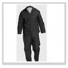 Denim Black Conti Suit Overalls
