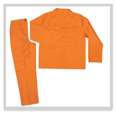 Orange Conti Suit Overalls