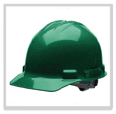Green Hard Hats
