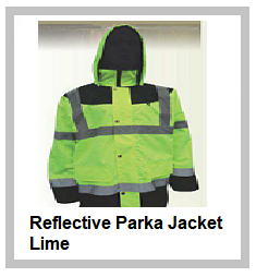 Reflective Parka Jacket Lime
