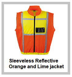 Sleeveless Reflective Orange and Lime jacket