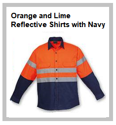 Orange and Lime Reflective Shirts