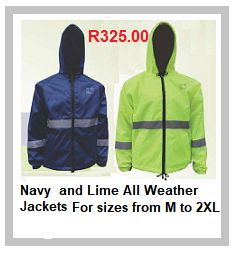 Navy and Lime All Weather Jacket