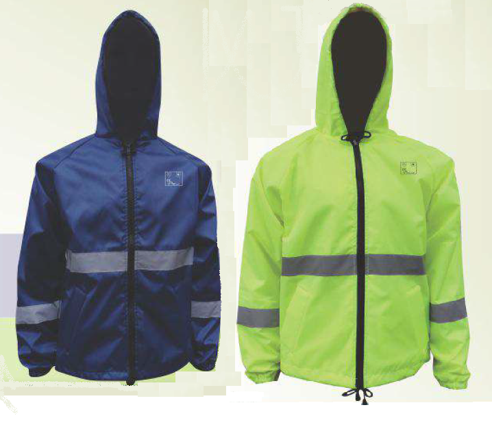 Navy and Lime All Weather Jackets
