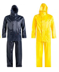 Yellow and Navy Rubberised RainSuits