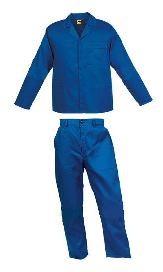 Royal Blue 2piece conti suit overalls (80-20 poly cotton)