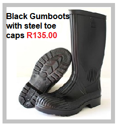Black Gumboots with STC