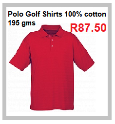 Mens Polo Golf Shirts -100% cotton - 195 grams