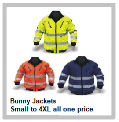 Bunny Jacket – Reflective in Lime, Orange and Navy