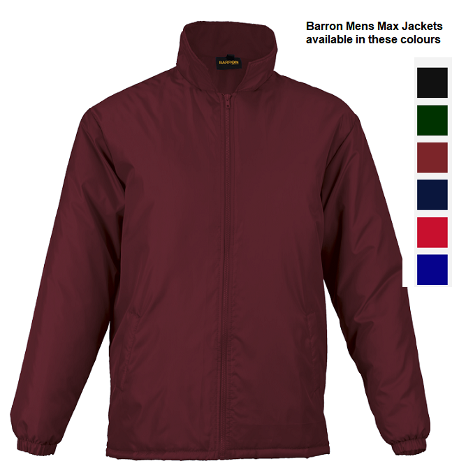 Barron Mens Max Jackets Maroon
