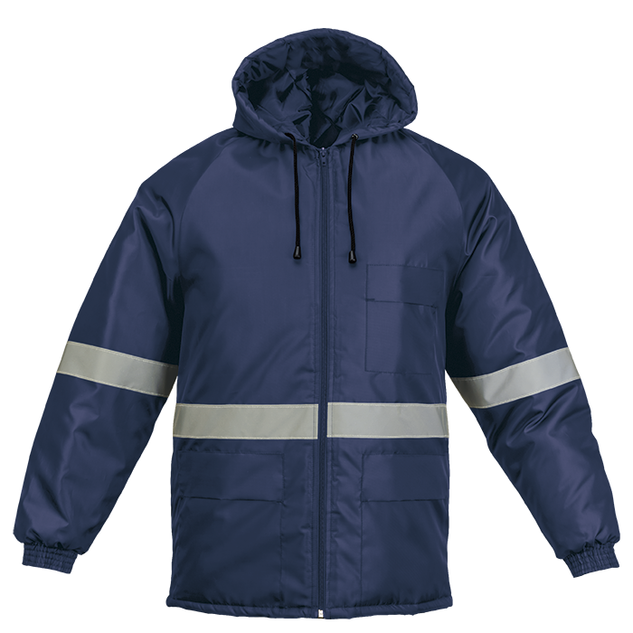 Barron Navy Jacket with Reflective Tape