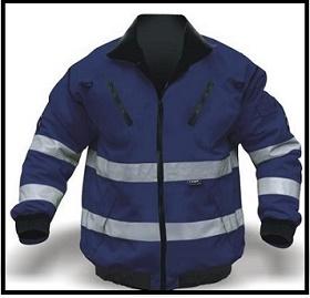 Navy Bunny Jacket - Reflective with Detachable Sleeves