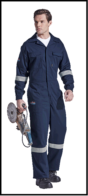 Navy SABS Approved Flame Retardant Acid Proof 1piece Boiler Suit Overalls