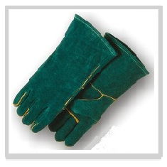 Green Welding Leather Glove
