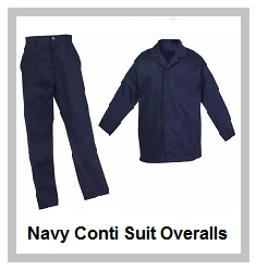 Navy2piece conti suit overalls (80-20 poly cotton)