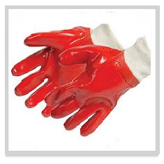 Red PVC Gloves