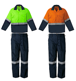 Green and Orange Reflective Conti Suits