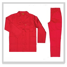 Red Conti Suit Overalls