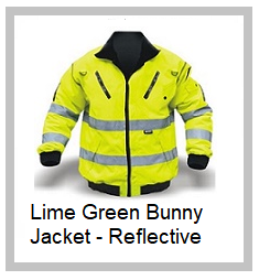 Lime Green Bunny Jacket - Reflective