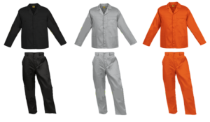 Black 2 piece conti suit overalls (80-20 poly cotton)