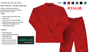 Javlin Cotton Conti Suit Overalls