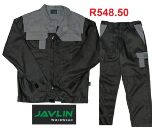 Javlin Premium Black and Grey Two Tone J54 - 100% cotton Conti Suit Overalls