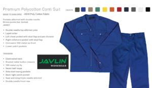 Javlin Poly Cotton Conti Suit