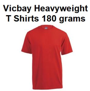 Vicbay Heavyweight T Shirts 180 grams