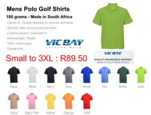 Vicbay Mens Polo Golf Shirts 180 grams