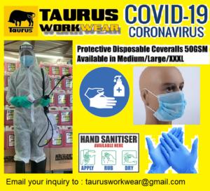 Covid-19 Protective Coveralls