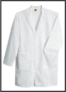 Mens White Dustcoat