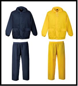 Navy - Yellow Rainsuit