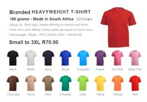 Branded Heavyweight T Shirts 180 grams