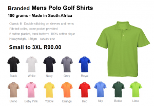 Mens Polo Golf Shirts 180 grams