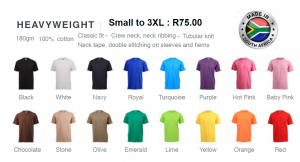 Branded Heavyweight T/Shirts - 100% cotton – 180 grams