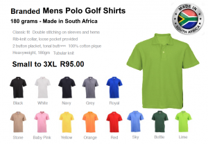 Golf Shirts 180grams
